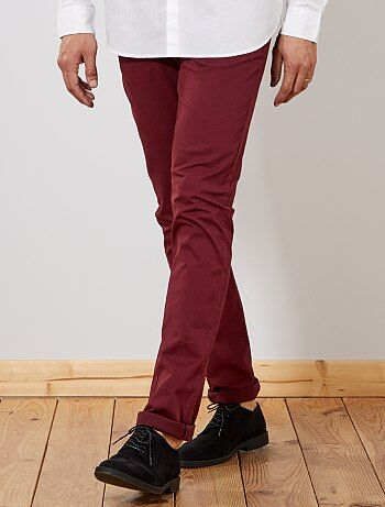 Pantalon chino fitted L38 +1m95 - Kiabi