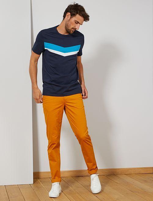 Pantalon chino fitted L38 +1m95                                                                 jaune Homme de plus d'1m90