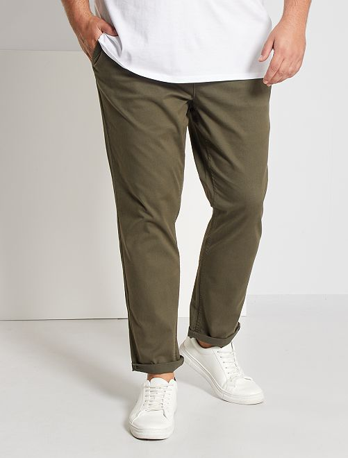 Pantalon chino fitted L38 +1m95                                                                             KAKI