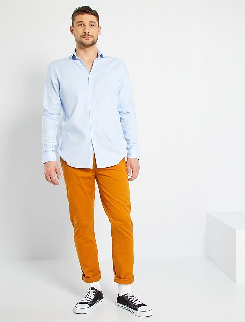 Pantalon chino fitted L38 +1m95                                                     rouille