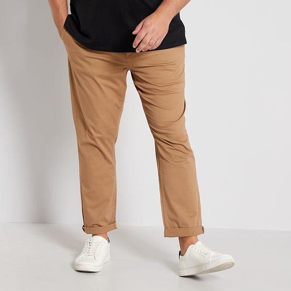Pantalon chino fitted twill stretch Grande