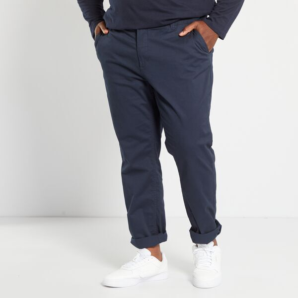 Pantalon chino fitted twill stretch