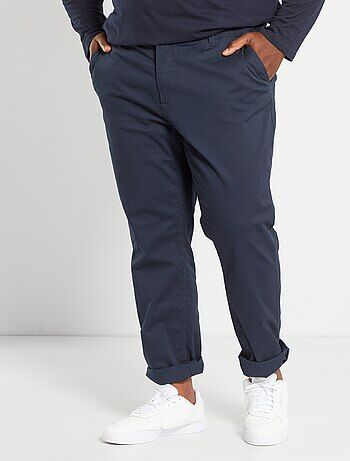 cd518062e6b Grande taille homme - Pantalon chino fitted twill stretch - Kiabi
