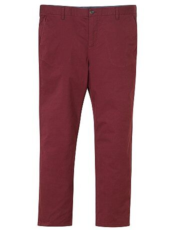 ffc1edb086820 Grande taille homme - Pantalon chino fitted twill stretch - Kiabi