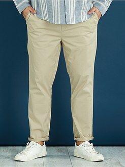 Pantalon casual - Pantalon chino fitted twill stretch - Kiabi