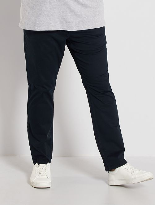Pantalon chino fitted twill stretch                                                                                                     noir