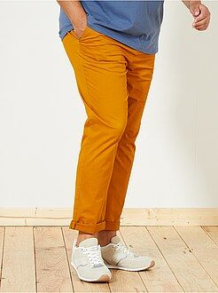 Pantalon casual - Pantalon chino fitted twill stretch - Kiabi