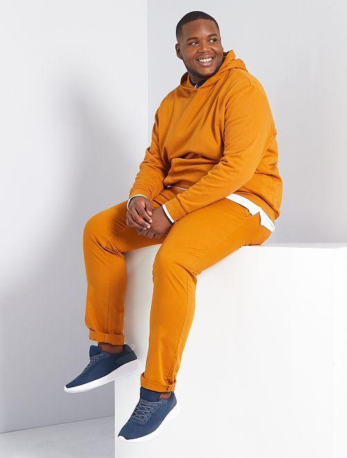 Pantalon chino fitted twill stretch                                                                                                     orange