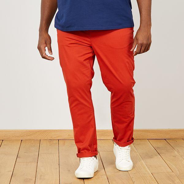 pantalon homme orange