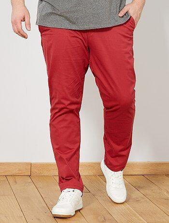 8b1c34d20fa Grande taille homme - Pantalon chino fitted twill stretch - Kiabi