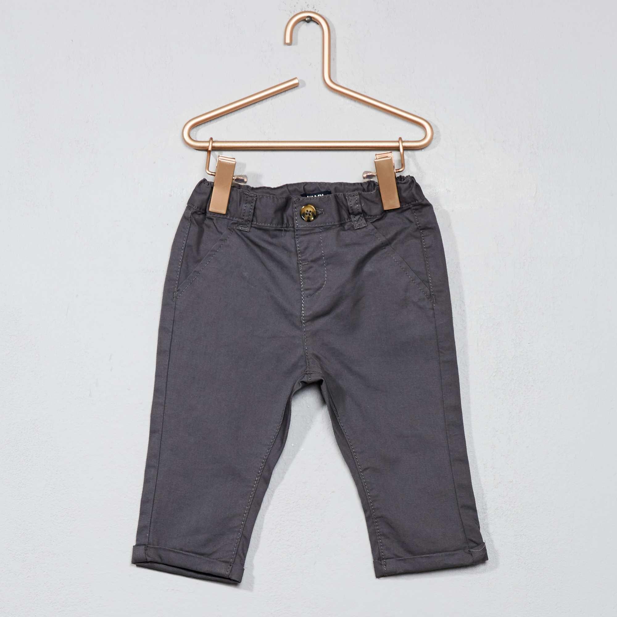 pantalon chino b b gar on gris kiabi 7 00. Black Bedroom Furniture Sets. Home Design Ideas