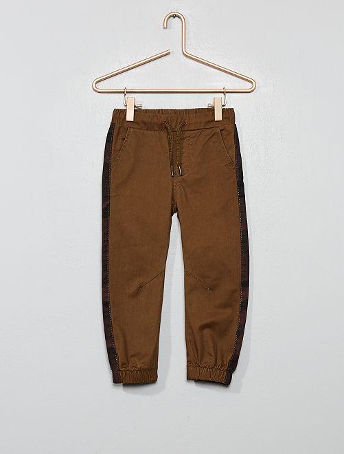 Pantalon chino jogger                                         kaki