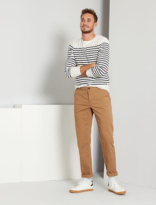 Pantalon chino L36 +1m90                                         beige