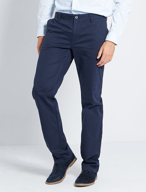 Pantalon chino L36 +1m90                                                                             bleu marine