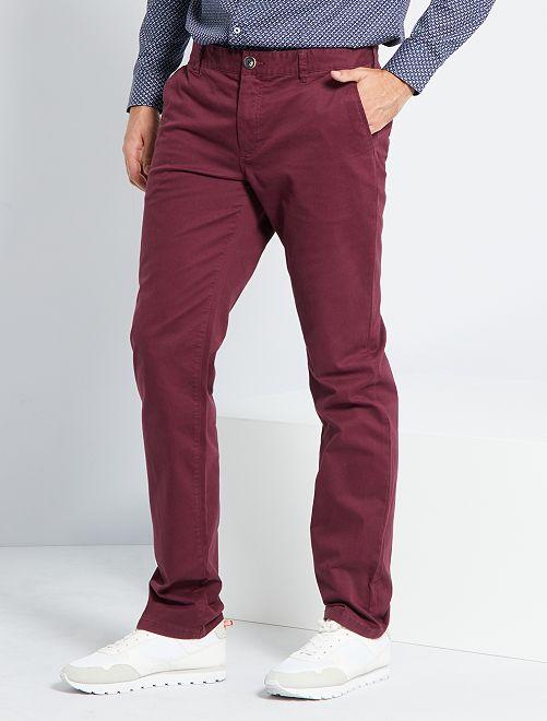 Pantalon chino L36 +1m90                                                                             bordeaux
