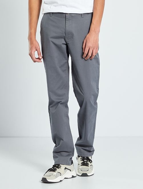 Pantalon chino L36 +1m90                                         gris