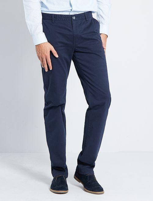 Pantalon chino L38 +1m95                                                     bleu marine