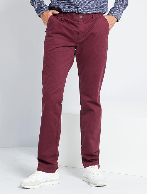 Pantalon chino L38 +1m95                                                     bordeaux