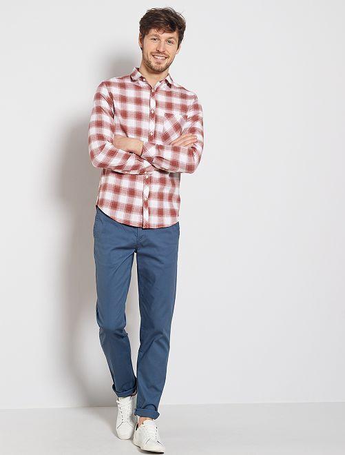 Pantalon chino maille piquée                                                                                                                                                                             bleu gris
