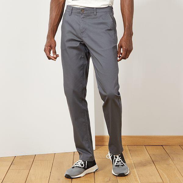 Pantalon chino maille piquée Homme - gris