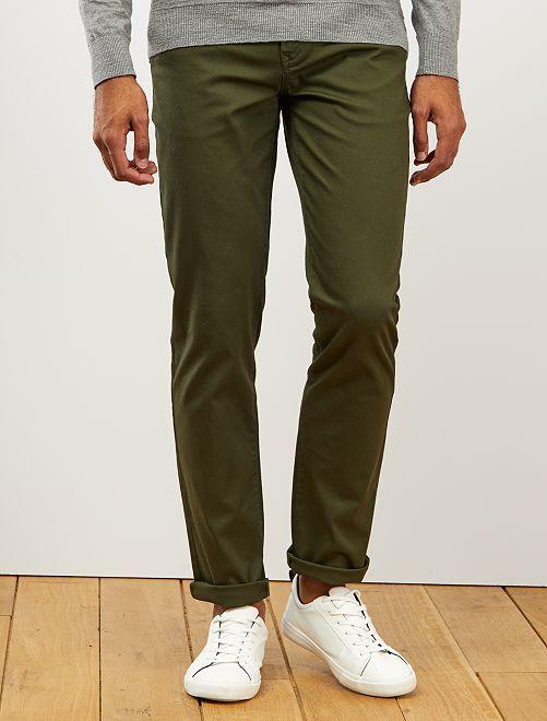 Pantalon chino maille piquée                                                                                                                                                                             vert fôret