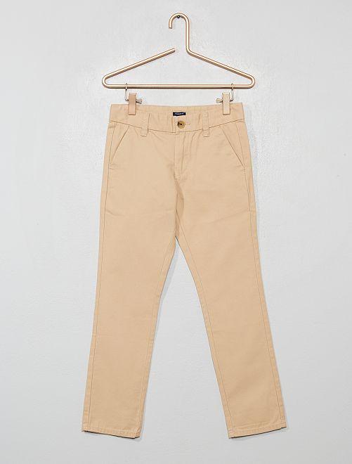 Pantalon chino regular                                         beige