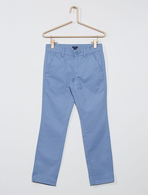 Pantalon chino regular                                                                 bleu