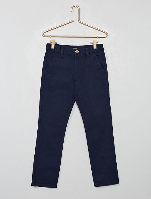Pantalon chino regular                                         bleu marine