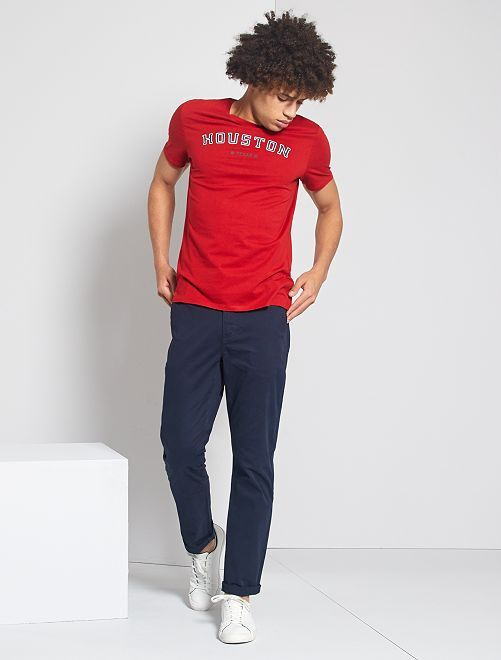 Pantalon chino regular                                                                 bleu marine
