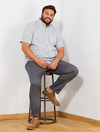 Pantalon chino regular en oxford - Kiabi