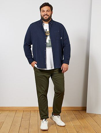 6697215c5d1a7 Grande taille homme - Pantalon chino regular en oxford - Kiabi