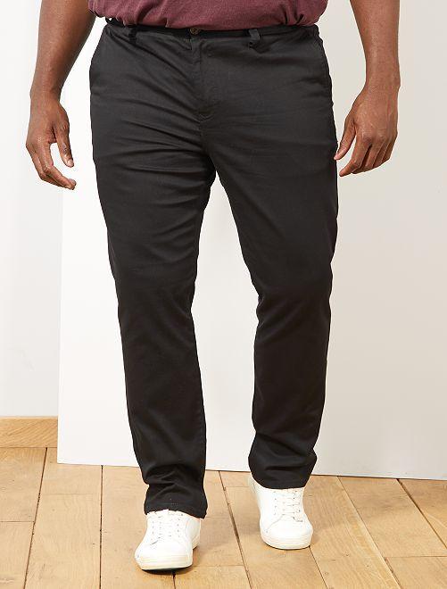 Pantalon chino regular en oxford                                                                                                                 noir