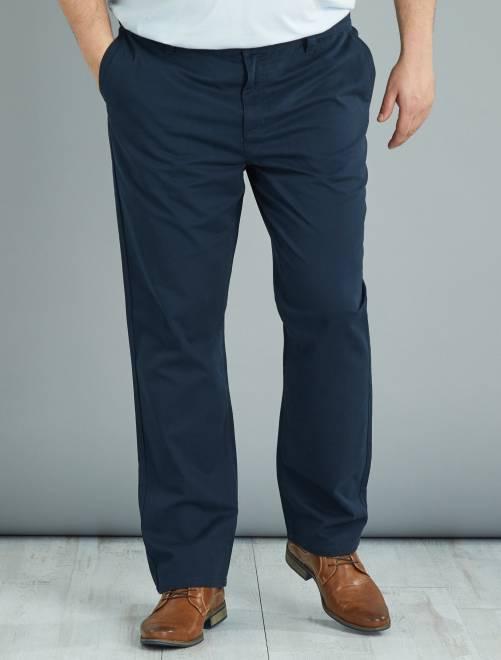 pantalon chino regular en twill grande taille homme. Black Bedroom Furniture Sets. Home Design Ideas