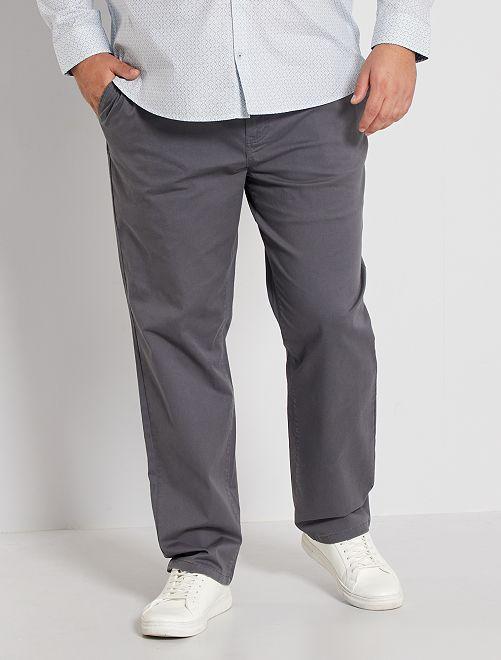 Pantalon chino regular L32                                                                 gris