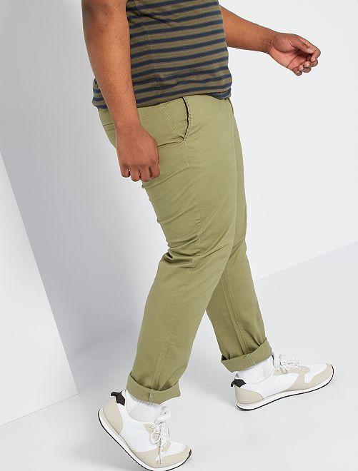Pantalon chino regular L32                                                                             kaki clair