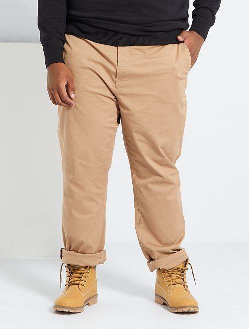 Pantalon chino regular L34                                                                 beige
