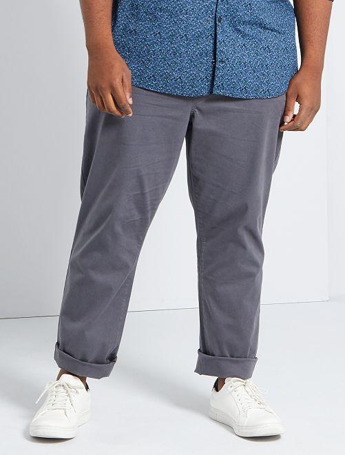 Pantalon chino regular L34                                                                             gris