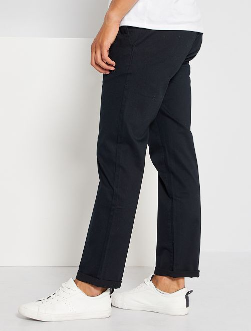Pantalon chino regular L34                                         noir