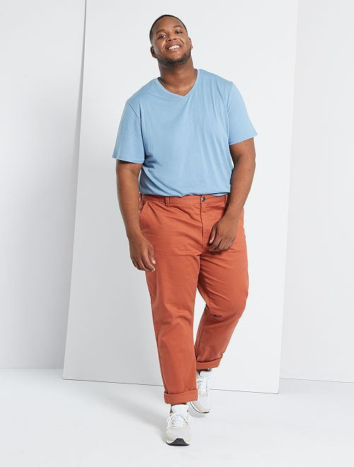 Pantalon chino regular L34                                                                 orange brique