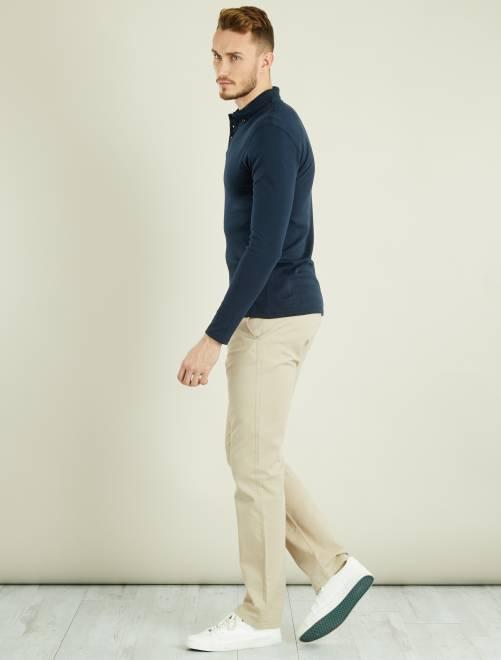 Pantalon chino regular L36 +1m90                                         beige Homme de plus d'1m90