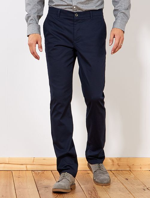Pantalon chino regular L36 +1m90                                                                             bleu marine