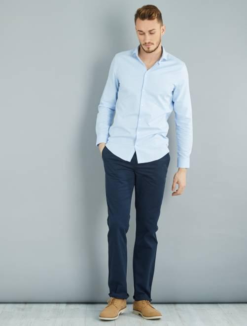 pantalon chino regular l36 1m90 homme bleu marine. Black Bedroom Furniture Sets. Home Design Ideas