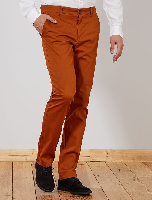 Pantalon chino regular L36 +1m90                                                                             rouille