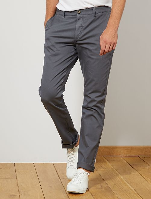 Pantalon chino regular L38 +1m95                                                                 gris