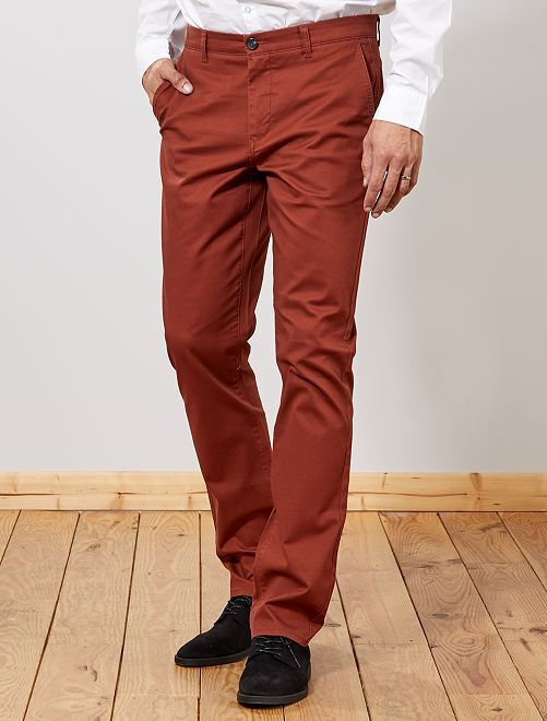 Pantalon chino regular L38 +1m95                                                                             rouge brique