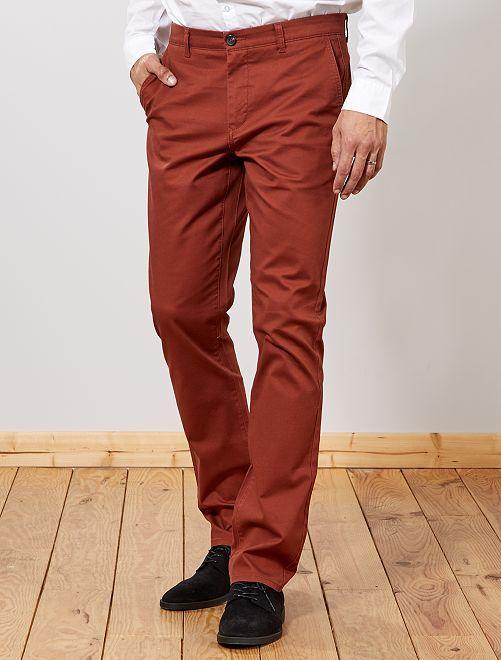 Pantalon chino regular L38 +1m95                                                     rouge brique Homme de plus d'1m90