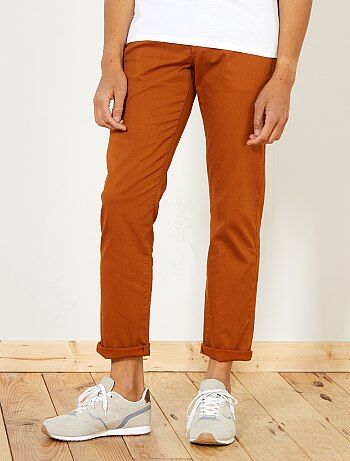 Pantalon chino regular maille piquée - Kiabi