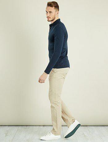 Pantalon chino regular pur coton L36