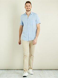 Homme de plus d'1m90 - Pantalon chino regular pur coton L38 +1m90