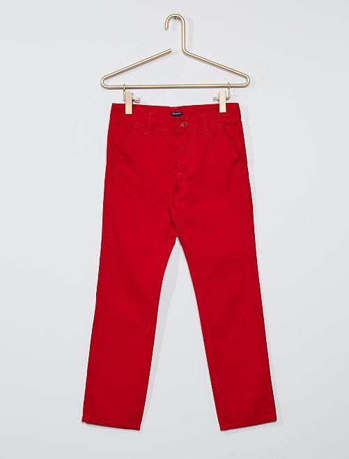 Pantalon chino regular                                                                 rouge